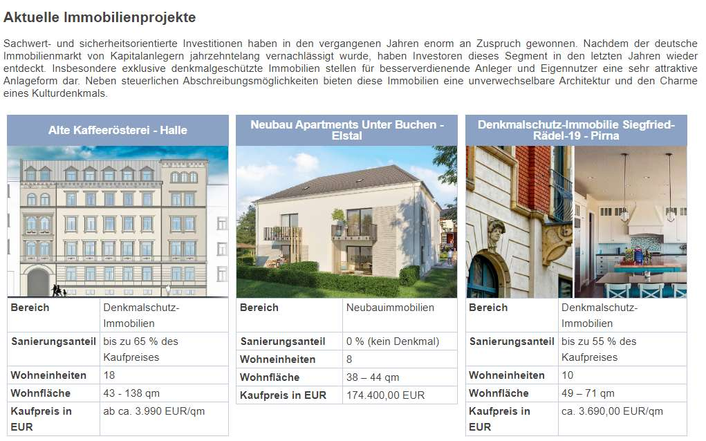 Bei AAD Fondsdiscount sind auch Immobilien im Angebot