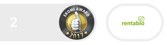 2. Platz für Rentablo beim BankingCheck Award 2017