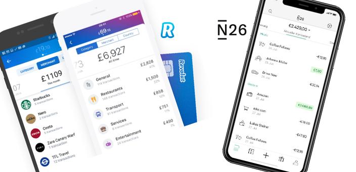 Digitalbanken: Vergleich N26 und Revolut
