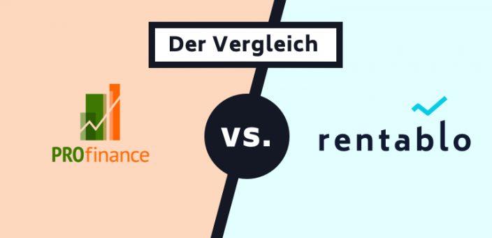 PROfinance im Vergleich mit Rentablo (Stand: 18.03.2020)