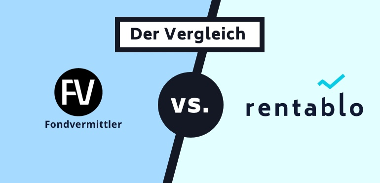 Vergleich Finanzvermittler.de mit Rentablo