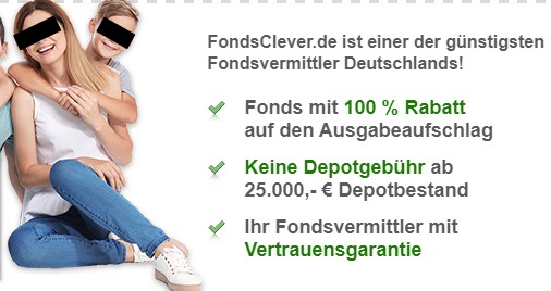 "Fondsvermittler mit ""Vertrauensgarantie"". Screenshot: Fondsclever.de"