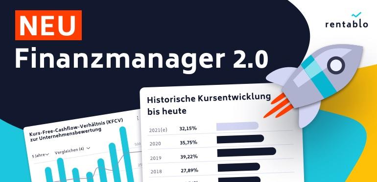 Rentablo Finanzmanager, jetzt in neuer Version.