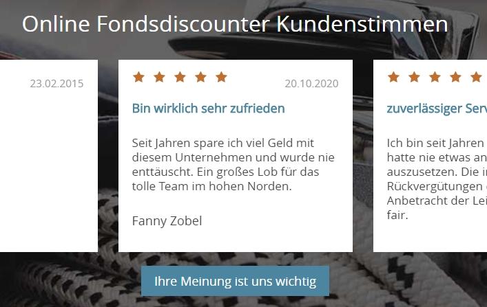 Screenshot/ Quelle: Fonds for less.de