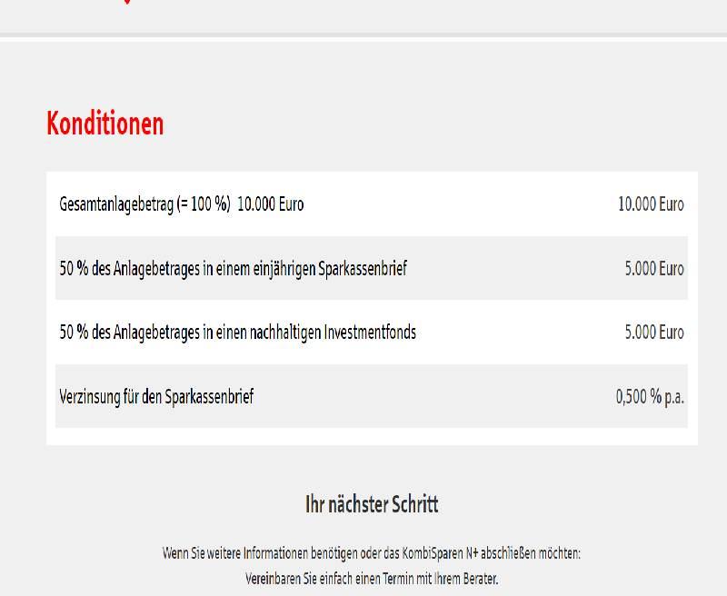 Screenshot: Sparkasse Hannover